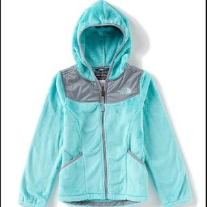 North Face Light Blue Youth Fleece Jacket